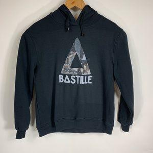 Bastille Black Graphic Hoodie Sz Small